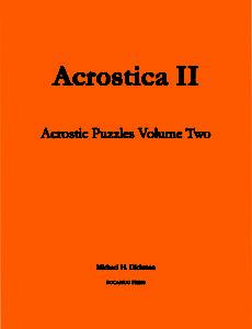 acrostica_ii_cover
